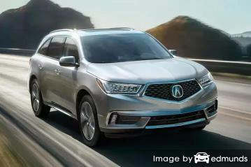 Insurance rates Acura MDX in Fort Worth