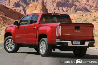 Insurance rates GMC Canyon in Fort Worth