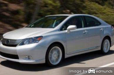Insurance rates Lexus HS 250h in Fort Worth