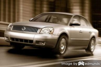 Insurance rates Mercury Montego in Fort Worth