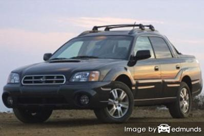 Insurance rates Subaru Baja in Fort Worth