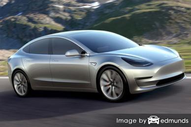 Insurance quote for Tesla Model 3 in Fort Worth