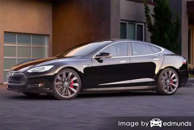 Insurance rates Tesla Model S in Fort Worth